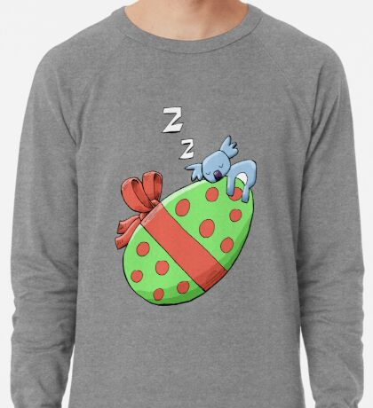 Cute Sleeping Koala on an Easter Egg Lightweight Sweatshirt