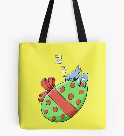 Cute Sleeping Koala on an Easter Egg Tote Bag