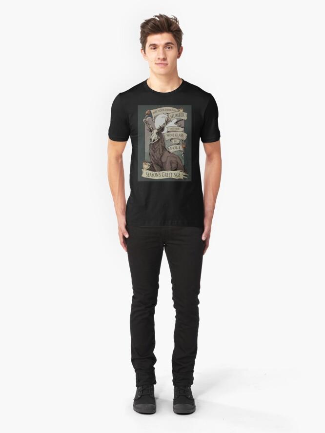 Alternative Ansicht von Mögen deine Dämonen Slim Fit T-Shirt