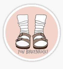You Birkenrock Peach  Sticker