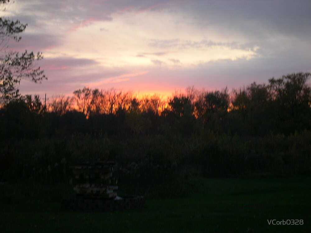 Sunset from my backyard by VCorb0328