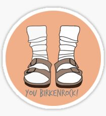 You Birkenrock Orange  Sticker