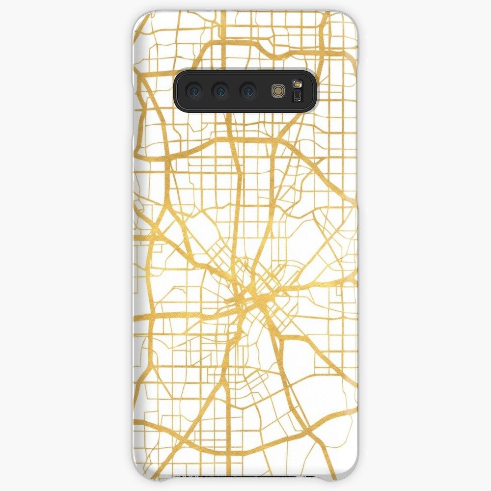 DALLAS TEXAS CITY STREET MAP ARTE Funda y vinilo para Samsung Galaxy