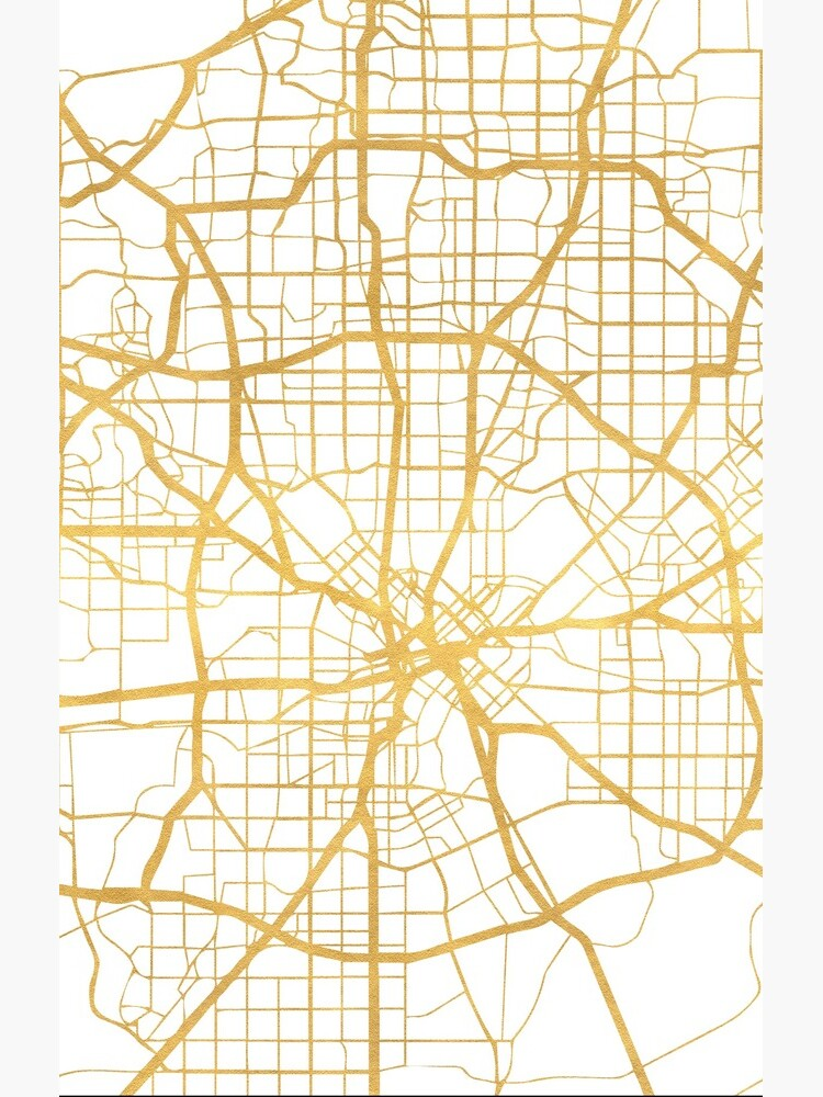 DALLAS TEXAS CITY STREET MAP ARTE de deificusArt