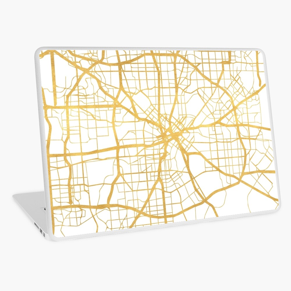 DALLAS TEXAS CITY STREET MAP ARTE Vinilo para portátil