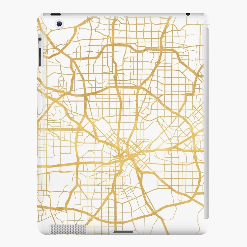 DALLAS TEXAS CITY STREET MAP ARTE Funda y vinilo para iPad