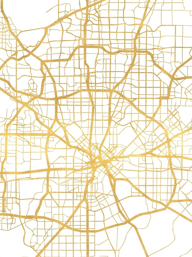 DALLAS TEXAS CITY STREET MAP ARTE de deificusArt