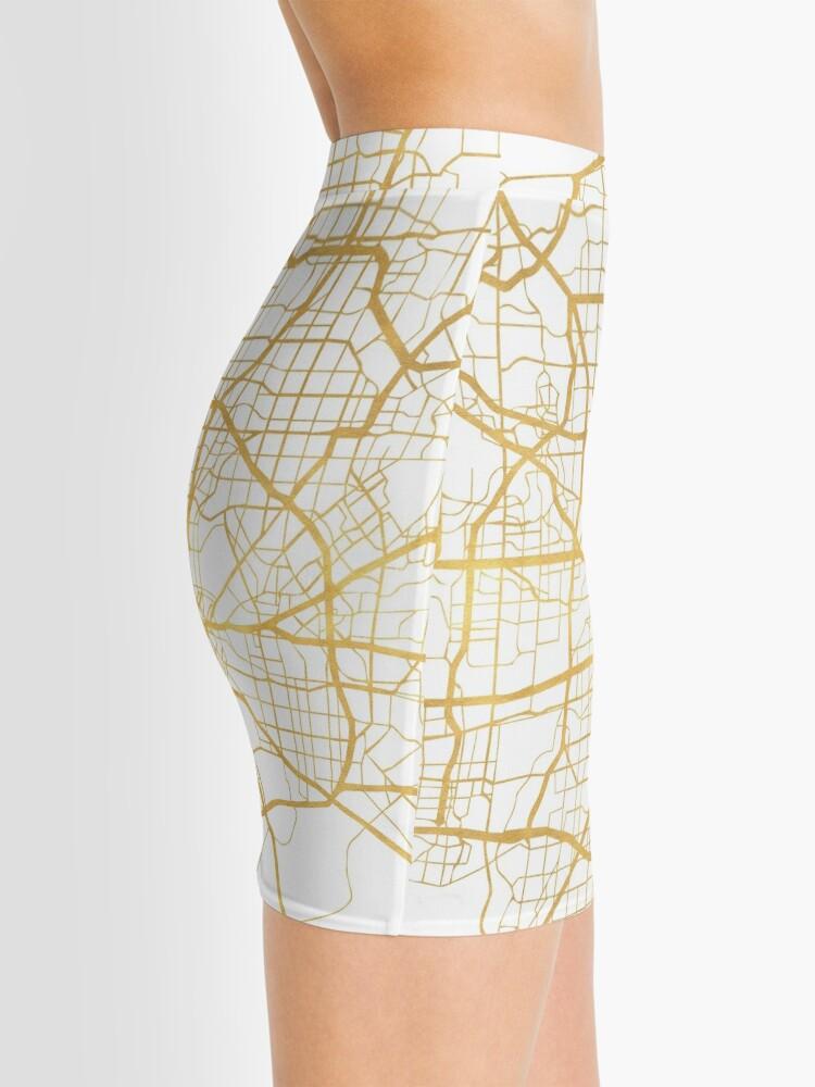 Vista alternativa de Minifalda DALLAS TEXAS CITY STREET MAP ARTE
