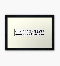 Highlander + Slayer crossover Framed Print