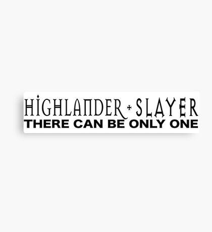 Highlander + Slayer crossover Canvas Print