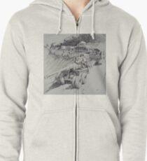 Italy 1943. Zipped Hoodie