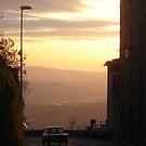 Sunset, Volterra by Lisa Trainer
