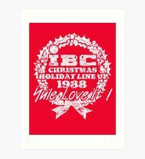 IBC Christmas Line Up- RED Art Print