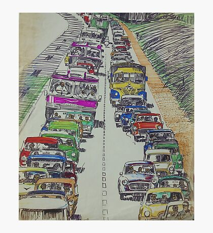 Traffic 1965. Photographic Print