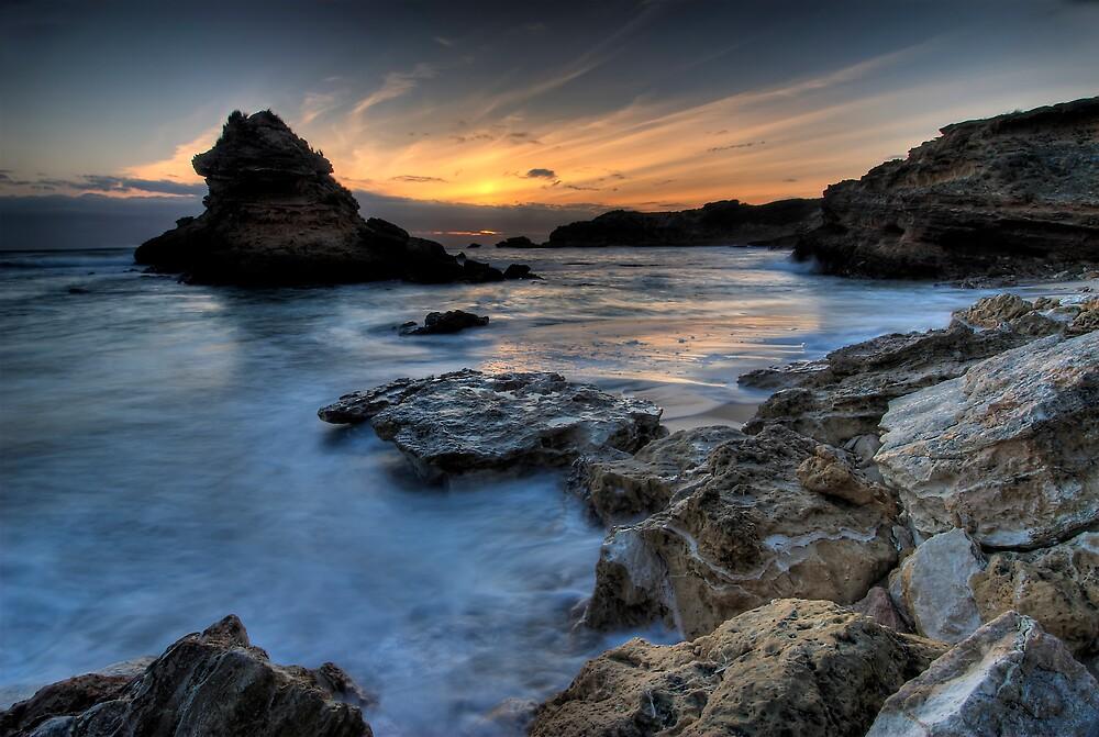 Island Bay Sunset by Robert Mullner