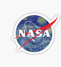 NASA starry night Sticker
