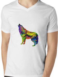 Wolf Song Mens V-Neck T-Shirt