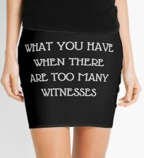 Patience Quote Mini Skirt