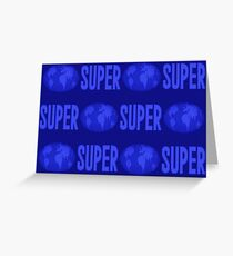 Super Street Fighter 2 title background Greeting Card
