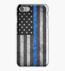 Thin Blue Line  iPhone Case/Skin
