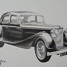 My old Jaguar. by Mike Jeffries