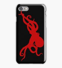Giant Octopus red silhouette | Animal iPhone Case/Skin