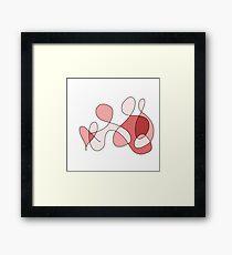 Red Swirl Artwork Design Framed Print