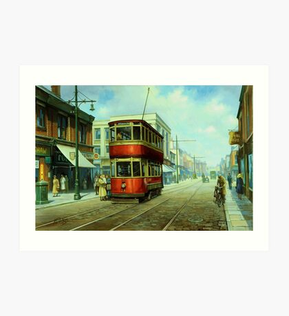 Stockport tram. Art Print