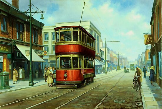 Stockport tram. by Mike Jeffries