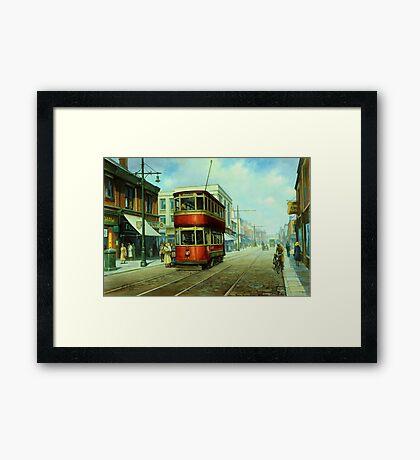 Stockport tram. Framed Print
