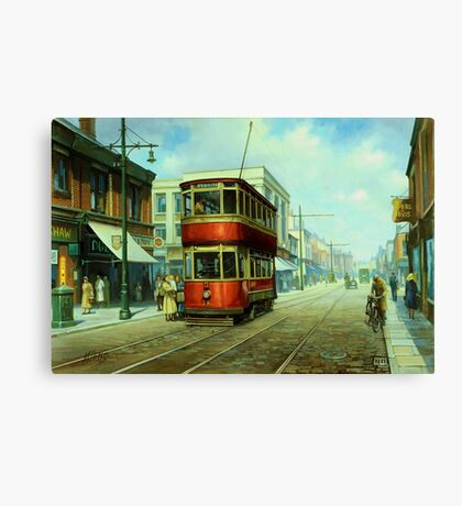 Stockport tram. Canvas Print