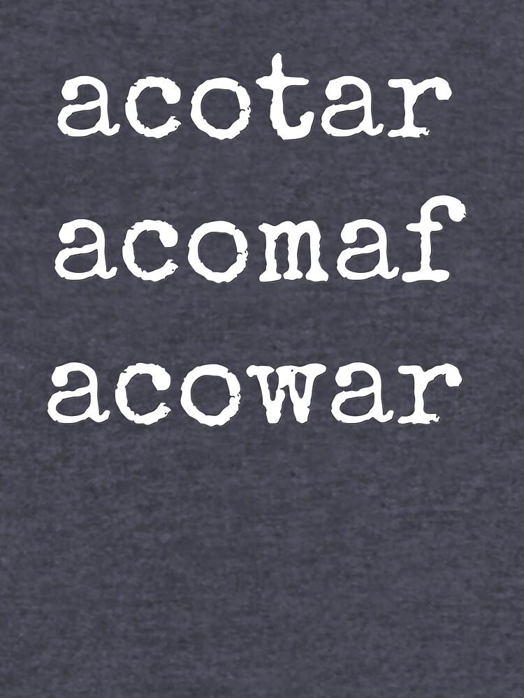 acotar, acomaf, acowar by hiswolfgirl