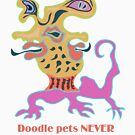 Doodle pets NEVER look like their owners tshirt by Anjo Lafin
