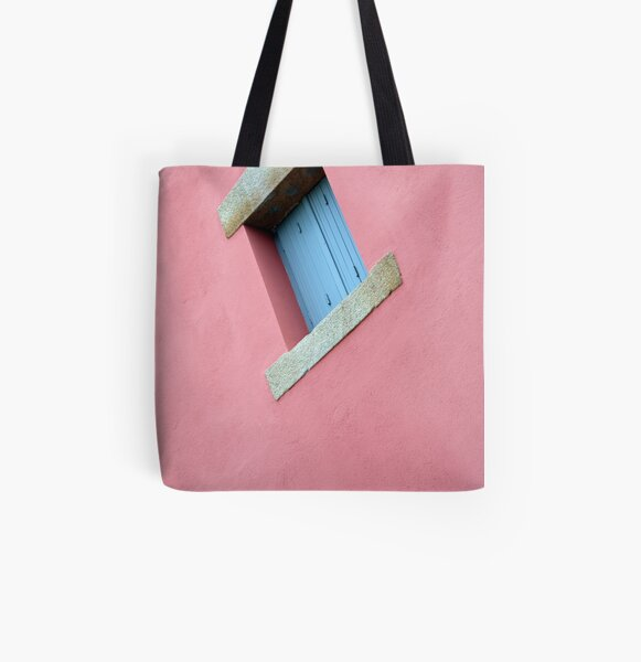 www.lizgarnett.com - French Window on Pink Wall All Over Print Tote Bag