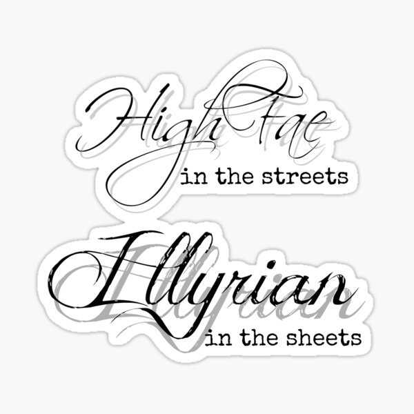 Illyrian in the Sheets Sticker