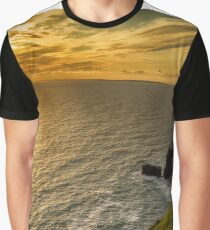 cliffs of moher sunset county clare ireland Graphic T-Shirt