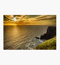 cliffs of moher sunset county clare ireland Photographic Print