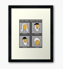 Beer Meets Brains Framed Print