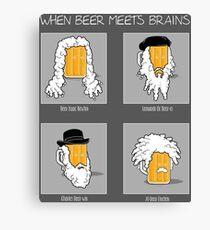 Beer Meets Brains Canvas Print