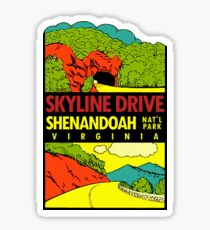 Shenandoah National Park Skyline Drive Vintage Travel Decal Sticker