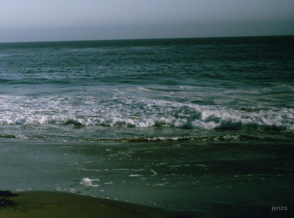 waves on a stormy afternoon by jenzo