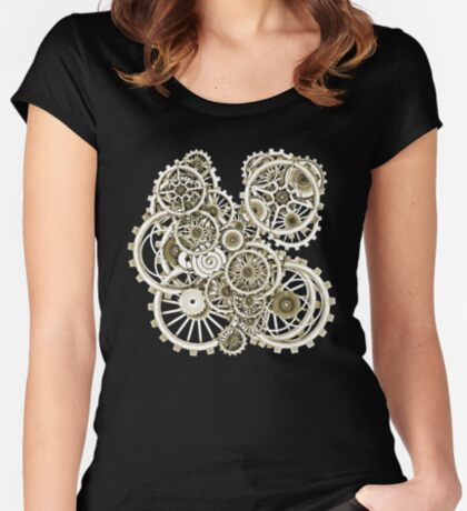 Steampunk Gears on your Gear No.2 Vintage Style Steampunk T-Shirts Women's Fitted Scoop T-Shirt