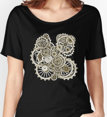 Steampunk Gears on your Gear No.2 Vintage Style Steampunk T-Shirts Relaxed Fit T-Shirt