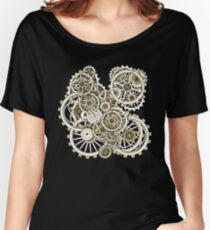 Steampunk Gears on your Gear No.2 Vintage Style Steampunk T-Shirts Women's Relaxed Fit T-Shirt