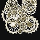 Steampunk Gears on your Gear No.2 Vintage Style Steampunk T-Shirts by Steve Crompton