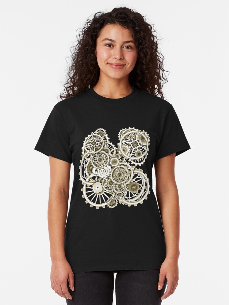 Alternate view of Steampunk Gears on your Gear No.2 Vintage Style Steampunk T-Shirts Classic T-Shirt