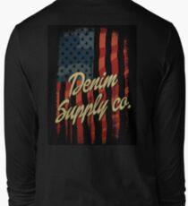 Vintage america denim typography Long Sleeve T-Shirt