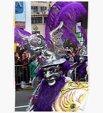 Folk Dancing Diablada Corso Wong Poster