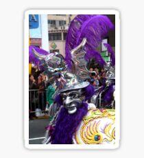 Folk Dancing Diablada Corso Wong Sticker