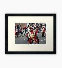 Folk Dancing Majeños Corso Wong Framed Print